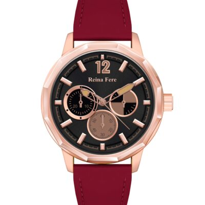 Ρολόι Reina Fere Amphitrite 8826-215 Κόκκινο Δέρματινο Λουράκι