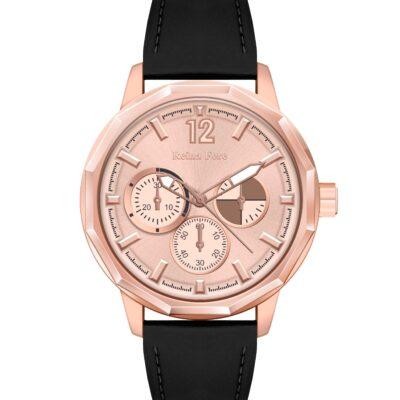 Ρολόι Reina Fere Amphitrite 8826-221 Μαύρο Δέρματινο Λουράκι