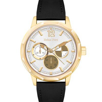 Ρολόι Reina Fere Amphitrite 8826-224 Μαύρο Δέρματινο Λουράκι