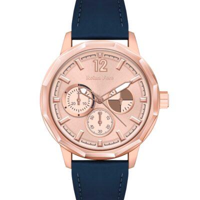 Ρολόι Reina Fere Amphitrite 8826-241 Μπλε Δέρματινο Λουράκι