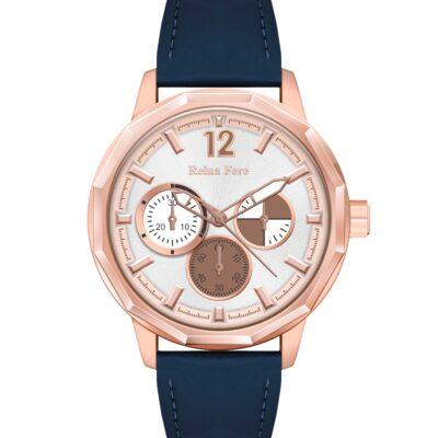 Ρολόι Reina Fere Amphitrite 8826-243 Μπλε Δέρματινο Λουράκι