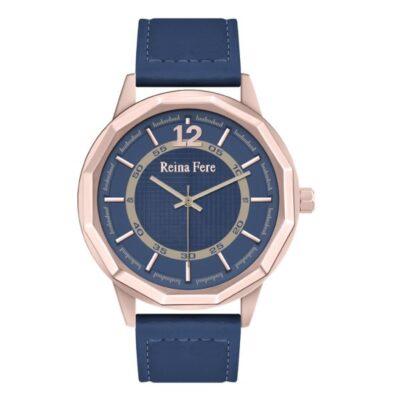Ρολόι Reina Fere Nereis 8826-2 Μπλε Δέρματινο Λουράκι