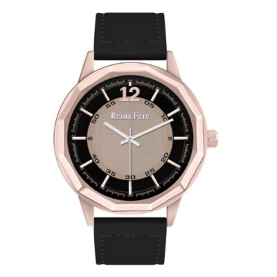 Ρολόι Reina Fere Nereis 8826-5 Μαύρο Δέρματινο Λουράκι