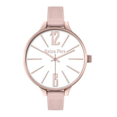 Ρολόι Reina Fere Thetis 0712-1 Ροζ Δέρματινο Λουράκι