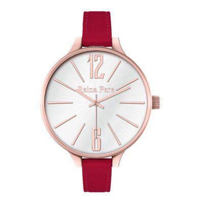 Ρολόι Reina Fere Thetis 0712-23 Κόκκινο Δέρματινο Λουράκι