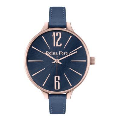Ρολόι Reina Fere Thetis 0712-4 Μπλε Δέρματινο Λουράκι