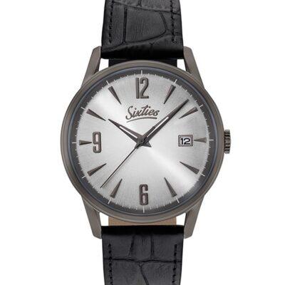 Ρολόι Sixties Sunrise GUL-02-1 Μαύρο Δέρματινο Λουράκι