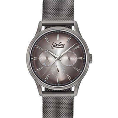 Ρολόι Sixties Motion GUME600-02 Γκρι Μπρασελέ