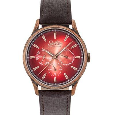 Ρολόι Sixties Motion RGAL600-08-5 Μπρονζέ Δέρματινο Λουράκι