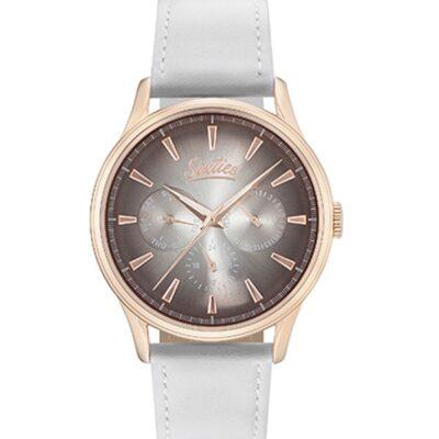 Ρολόι Sixties Motion RGL600-02-2 Λευκό Δέρματινο Λουράκι