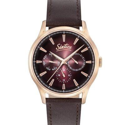 Ρολόι Sixties Motion RGL600-06-5 Καφέ Δέρματινο Λουράκι