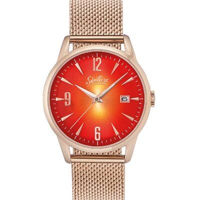 Ρολόι Sixties Rainbow RGME-09 Ροζ Χρυσό Μπρασελέ