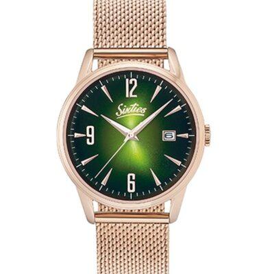 Ρολόι Sixties Rainbow RGME-10 Ροζ Χρυσό Μπρασελέ