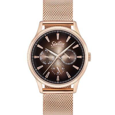 Ρολόι Sixties Motion RGME600-05 Ροζ Χρυσό Μπρασελέ