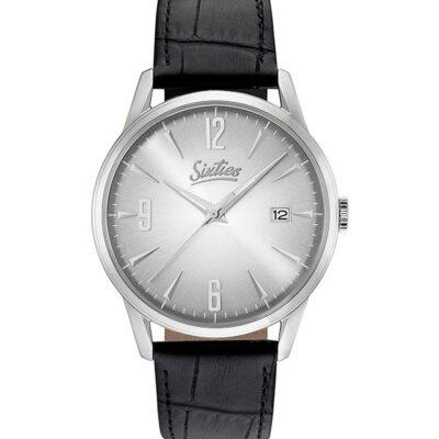 Ρολόι Sixties Sunrise SL-02-1 Μαύρο Δέρματινο Λουράκι