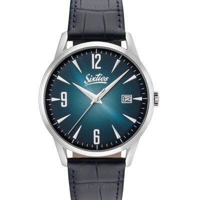 Ρολόι Sixties Sunrise SL-03-3 Μπλε Δέρματινο Λουράκι