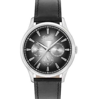 Ρολόι Sixties Motion SL600-01-1 Μαύρο Δέρματινο Λουράκι