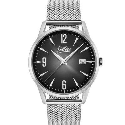Ρολόι Sixties Sunrise SME-01 Ασημί Μπρασελέ
