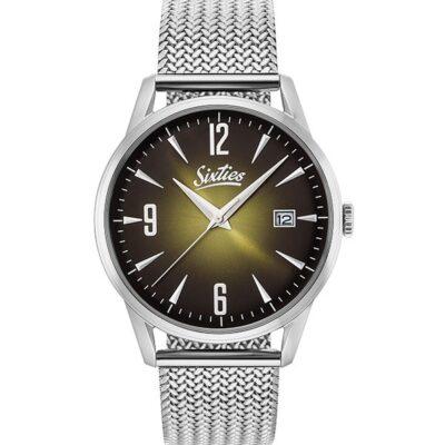 Ρολόι Sixties Sunrise SME-07 Ασημί Μπρασελέ