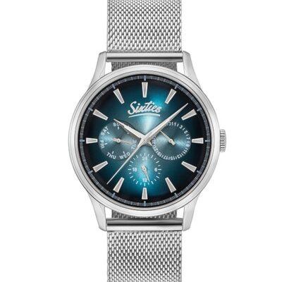 Ρολόι Sixties Motion SME600-03 Ασημί Μπρασελέ
