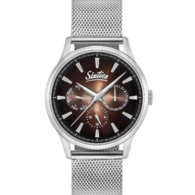 Ρολόι Sixties Motion SME600-05 Ασημί Μπρασελέ