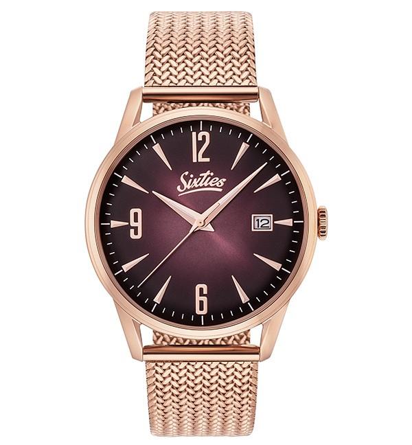 Ρολόι Sixties Sunrise RGME-06 Ροζ Χρυσό Μπρασελέ
