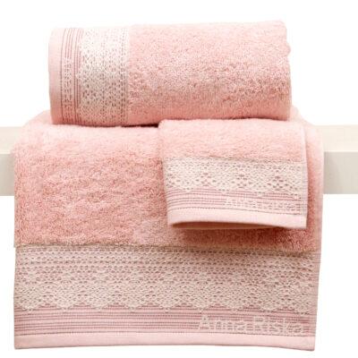 Anna Riska Πετσέτα 70X140 Karla 1 Blush Pink