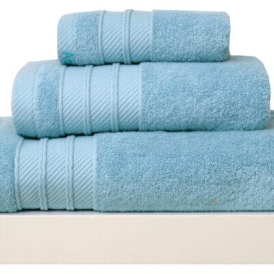 Anna Riska Σετ 3 Πετσέτες 30X50 Συσκευασία Δώρου Soft 8 Sky Blue