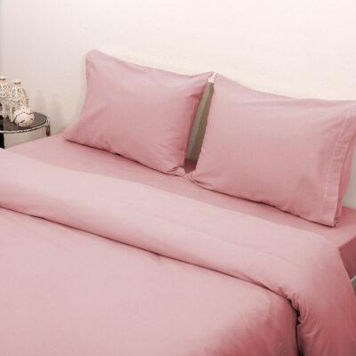 Viopros Σεντόνι Μονό Με Λάστιχο 100X200+25 3100 Φανέλλα Ροζ