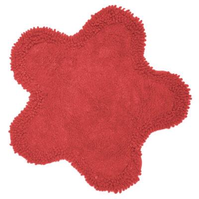 Viopros Ταπέτο Μπάνιου Φ50Εκ Μαργαρίτα Κόκκινο