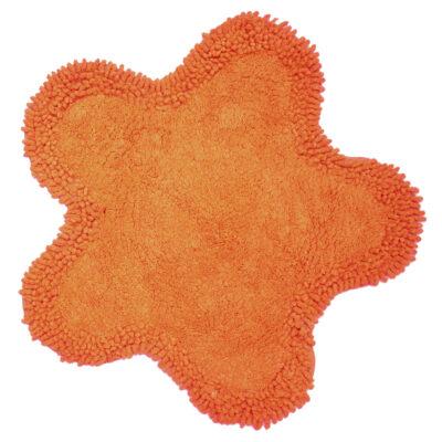 Viopros Ταπέτο Μπάνιου Φ50Εκ Μαργαρίτα Πορτοκαλί
